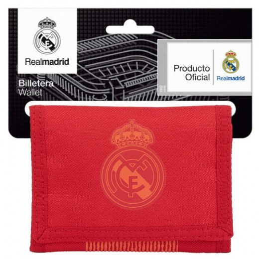 Billetero cartera del Real Madrid Roja monedero oficial Tercera equipación