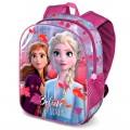 Mochila 3D de Frozen 2 de Elsa y Anna 31 cms colegio con asas acolchadas