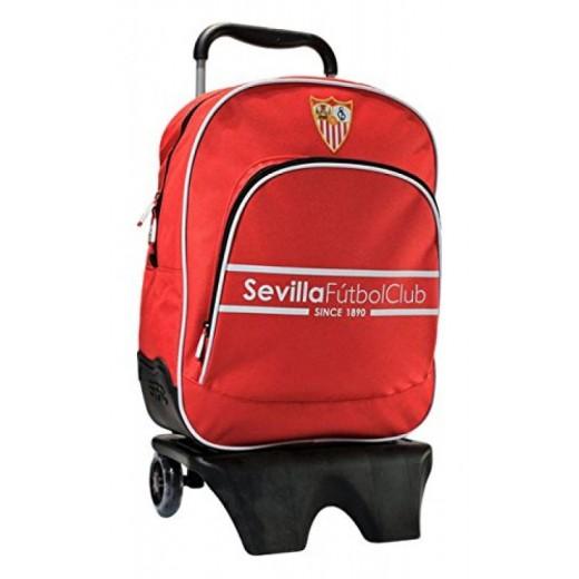 Mochila del Sevilla Futbol Club con carro Escudo borado carro negro Original