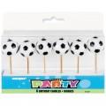 6 Velas con forma de balon de futbol de cumpleaños para tarta feliz redondas