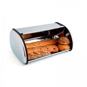Panera en acero inoxidable caja para pan metálica mediana de calidad