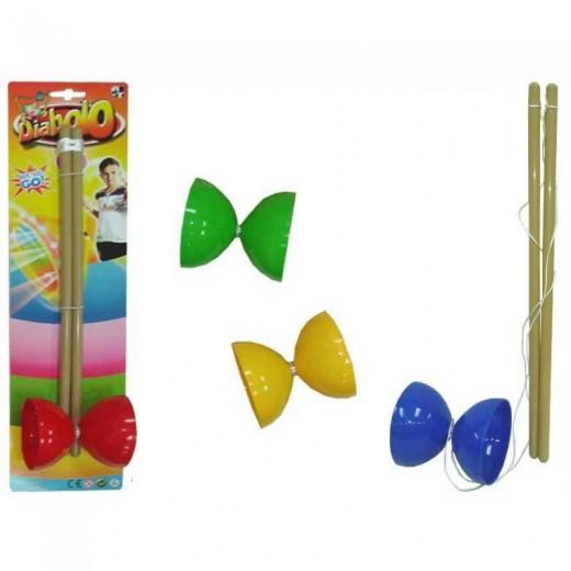 diabolo de juguete mediano juego habilidad varios colores psicomotricidad