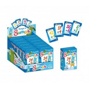 Baraja de Cartas juega a sumar juego para hacer sumas faciles niños aprender