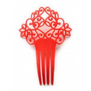 Peineta roja sevillana andaluza de plastico infantil