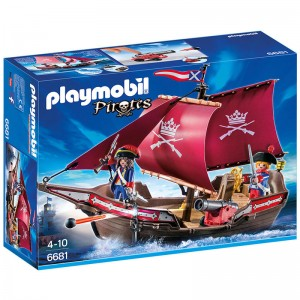 Barco Pirata patrulla soldados de Playmobil Pirates piratas barco de juguete