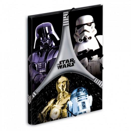 Carpeta de Star Wars Flash tamaño A4 con gomas solapas tapa dura