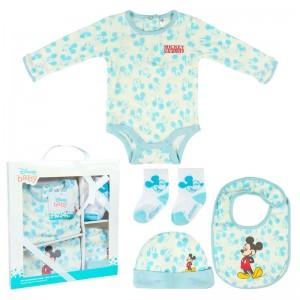 Pack regalo de bienvenida bebe Mickey Disney para bebes recien nacidos Azul