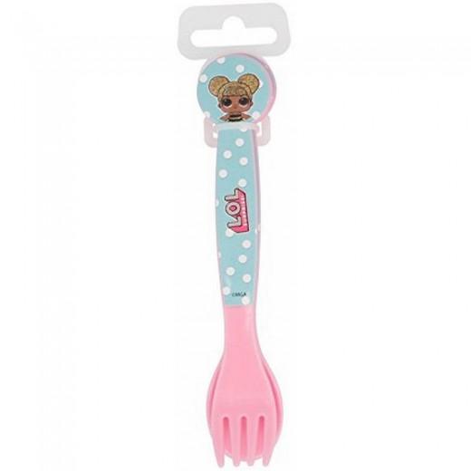 Set de cubiertos LOL Surprise tenedor y cuchara de plástico infantiles