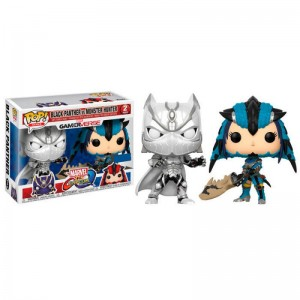 Set 2 figuras POP Capcom vs Marvel Black Panther vs Monster Hunter Exclusive