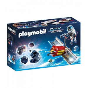 Satélite laser meteoritos Playmobil City Action espacio astronauta 6197