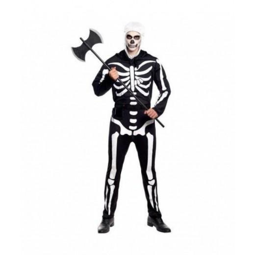 disfraz de Soldado Esqueleto tipo skull soldier de Fortnite Adulto