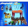 Tribuna real Alex Medieval caballeros con caballo Playmobil Super 4