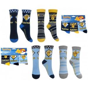 Calcetines de Pikachu Pokemon 3 pack adulto y niños calcetín picachu