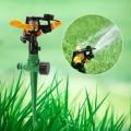Aspersor de impacto con pivote fijo ajustable pincho para jardín riego y racord