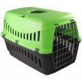 Transportin para perro gato con asa desmontable puerta metalica coche y correa