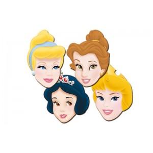 6 caretas Princesa para cumpleaños fiestas blancanieves bella durmiente