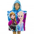 Poncho de Frozen Elsa y Anna Hermanas Disney toalla niños con capucha