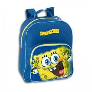 mochila de bob esponja de 30 cm para guardería excursiones viajes azul