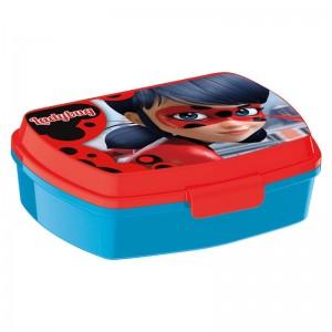 sandwichera de Ladybug caja para llevar almuerzo o merienda de miracolous