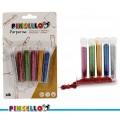 Juego de 6 tubos de purpurina de color metalicos de varios colores