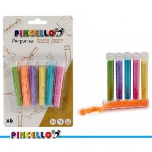 6 tubos de purpurina de colores para hacer manualidades varios colores
