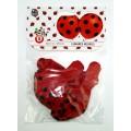 Globos rojos de Lunares negros mariquita Ladybug para fiestas comuniones grandes