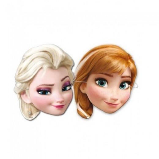 6 caretas de Elsa y Anna de Frozen para cumpleaños y fiestas Princesa Ana