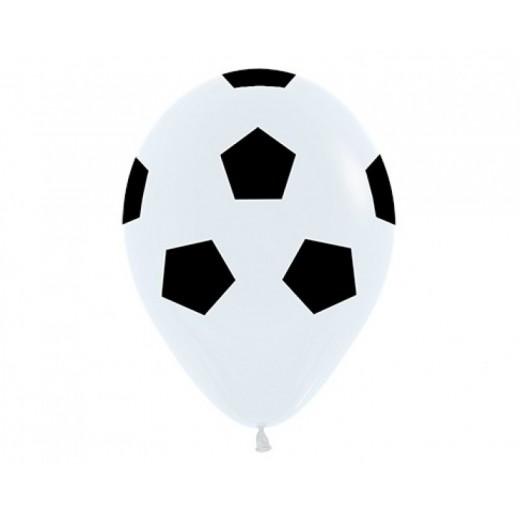 Globos grandes con forma de Balon de futbol para fiestas y cumpleaños 5 unidades