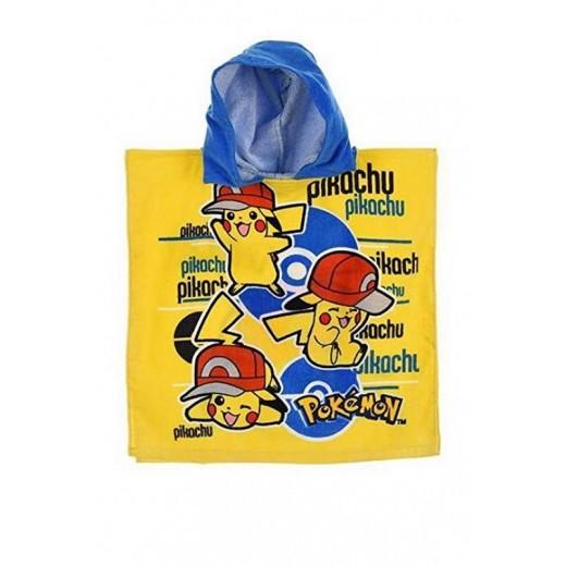 poncho de Pikachu Pokemon toalla con gorro secado rápido con gorro amarillo