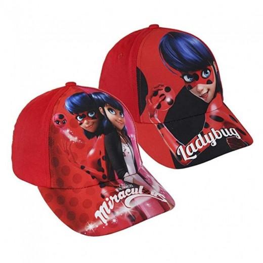 Gorra de ladybug para niña roja gorra con visera de Miracolous y marinette