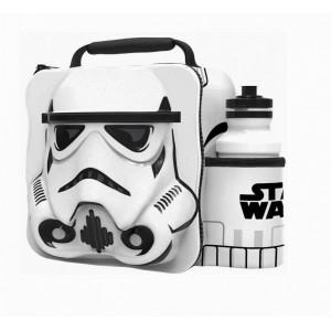 Storm Trooper caja 3D para merienda con botella de Star wars bolsa almuerzo