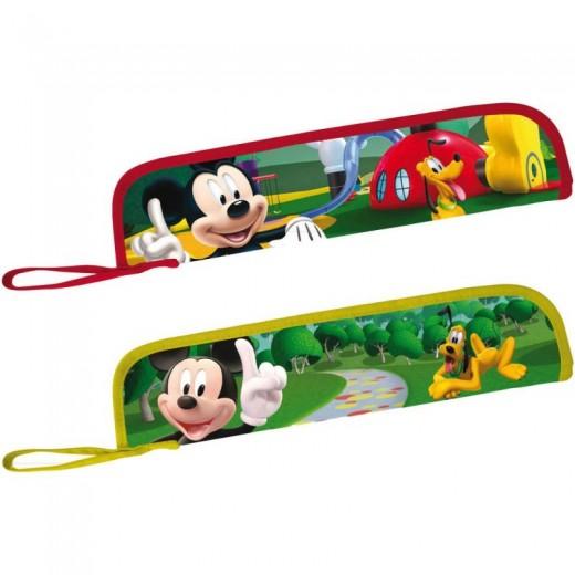 Funda porta flauta de Mickey Mouse Disney para colegio miky portaflauta música