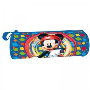 Estuche lapicero portatodo de Mickey Mouse azul para colegio con cremallera