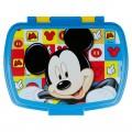 sandwichera de Mickey Mouse para guardar bocadillo almuerzo colegio y guardería