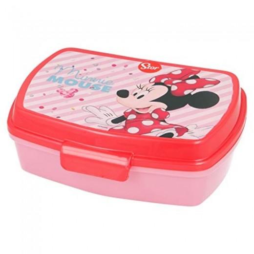 sandwichera de Minnie Mouse para guardar bocadillo almuerzo colegio y guardería