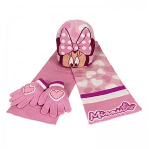 Guantes gorro y bufanda Rosa de Minnie Mouse Invierno Polar mini