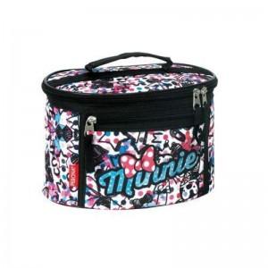 Bolsa de Aseo de Minnie Mouse Neceser Disney negra y rosa con letras