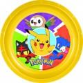 Plato de Pokemon con dibujo de PIkachu amarillo de PVC plastico