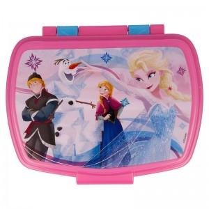 sandwichera de Frozen Elsa para guardar bocadillo almuerzo colegio y guardería