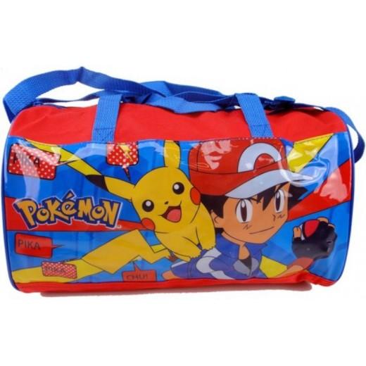 Bolsa de deporte Pokemon Pikachu Macuto mediano gimansio deportivo rojo y azul