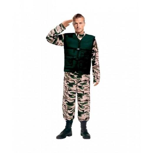 Disfraz de las Fuerzas Especiales hombre soldado militar adulto color camuflaje