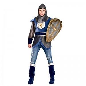Disfraz de caballero medieval hombre guerrero traje fiesta carnaval con capa