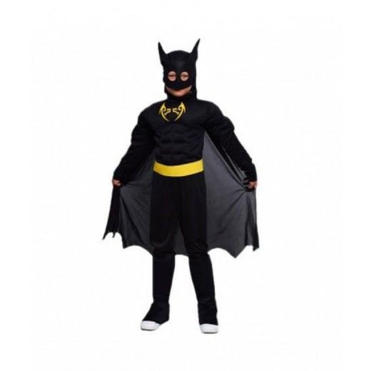Disfraz niño de superheroe bat hombre de negro murcielago tipo Batman