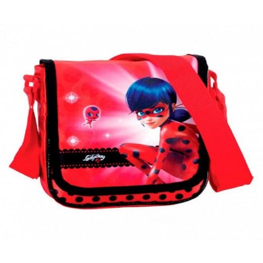Bandolera de Ladybug Miraculous y tikki Original Roja con cinta bolso