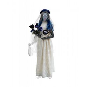 Disfraz de novia cadaver adulto esqueleto traje con velo carnaval halloween