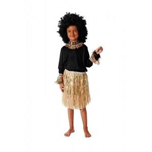 Disfraz de africano tribu africana traje falda collar ropa de africa zulu