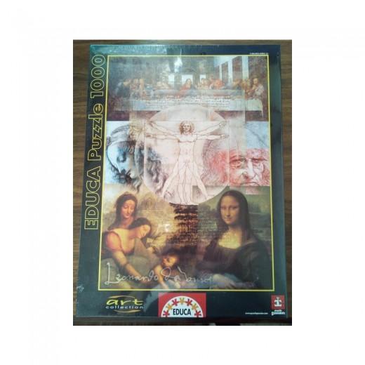PUZZLE con cuadros de LEONARDO DA VINCI de 1000 piezas grande gioconda vitruvio