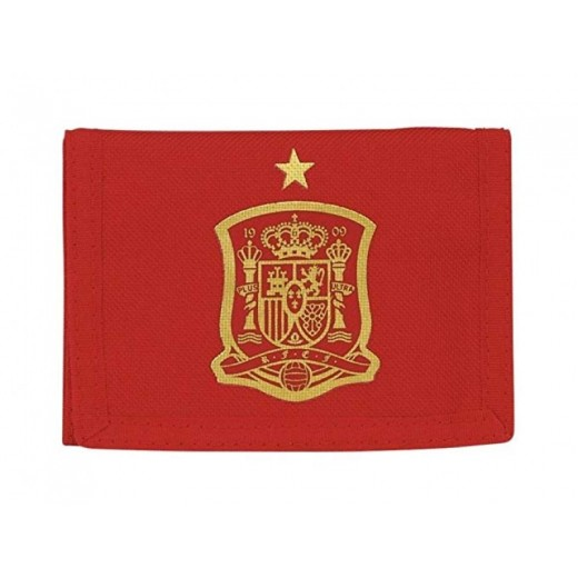 BILLETERO cartera roja de ESPAÑA SELECCIÓN española 12x9cm