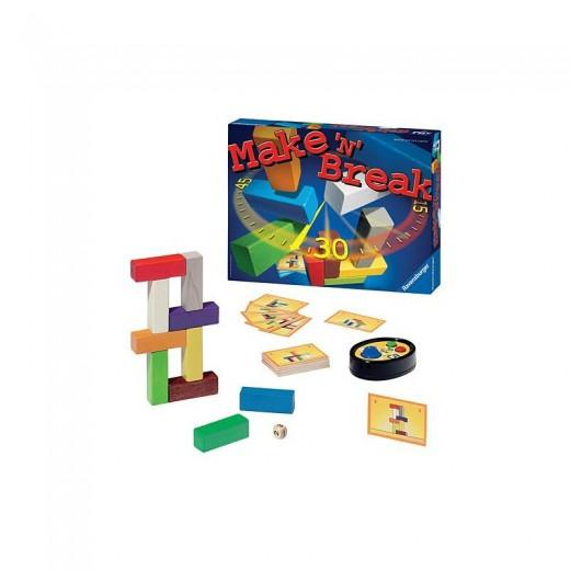 Juego de mesa MAKE 'N BREAK juego de bloques en el tiempo marcado