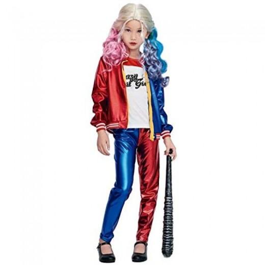 Disfraz de Harley Quinn Joker's Baby para niña Infantil Carnaval pantalon largo